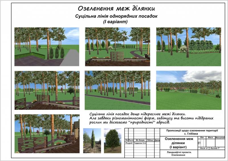 4Озеленення меж ділянки 1