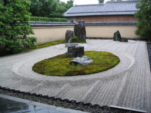 Сад Daizen-Ji Zen Rock, Киото, Япония